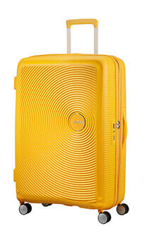 d56d251b2bcd American Tourister Soundbox Spinner 77 Golden Yellow